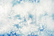 frozen window: abstract frosty background, winter pattern, frost patterns on glass
