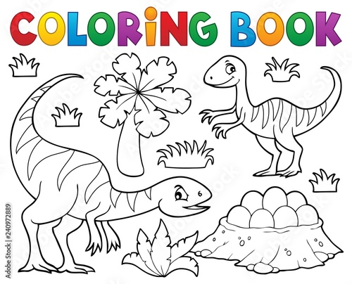 Wall Murals For Kids Coloring book dinosaur subject image 1