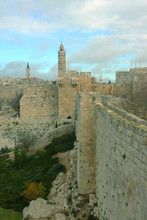 The Ancient Medieval Walls Of Jerusalem Surround The Old City