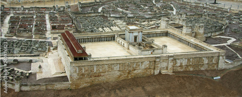 Model of the Second Temple Canvas Print