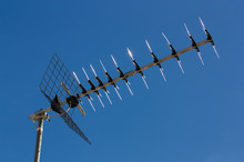 A Television Antenna On Clear ...