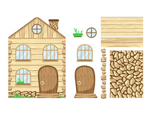 Wooden House. Wonderland. Set ...