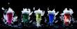 canvas print picture - Futuristische Molekularküche Cocktails mit Trockeneis