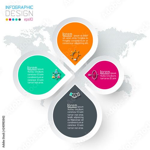 Αφίσα  Circles with business icon infographics.