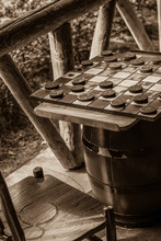 Old Fashioned Checkers Table