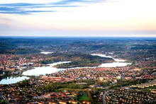 Silkeborg City In Denmark Seen From Above