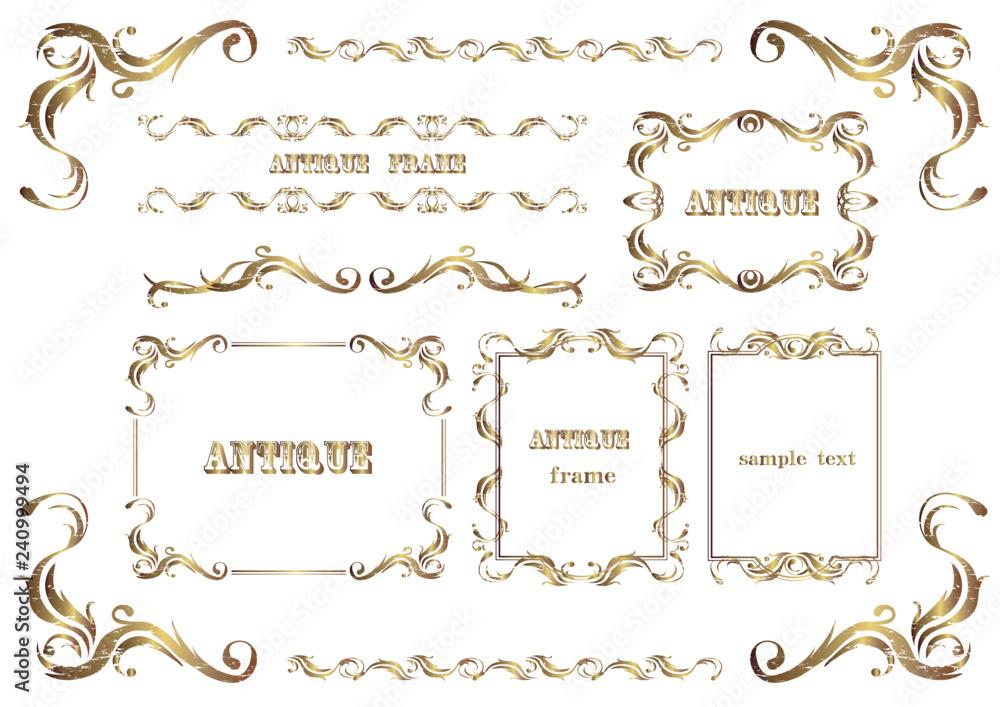Fototapeta アンティーク調のフレームセット