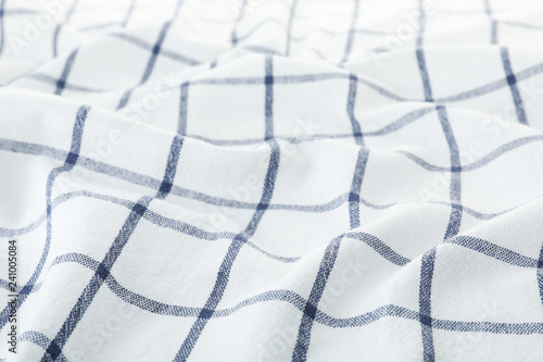 Texture of textile table napkin, closeup view