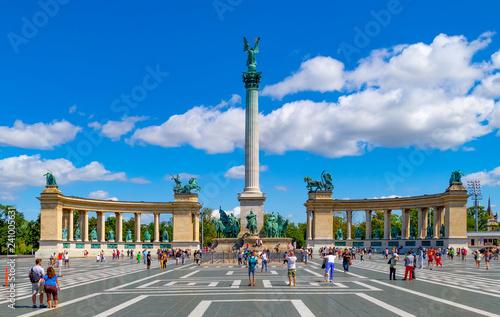 Obraz premium Plac Bohaterów Budapeszt