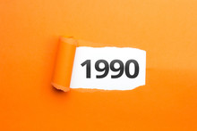 Surprising Number / Year 1990 Orange Background