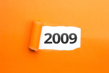 Surprising Number / Year 2009 Orange Background