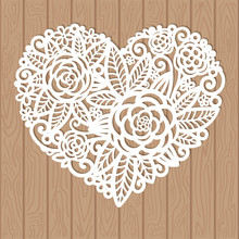 Openwork Heart With Flowers. V...