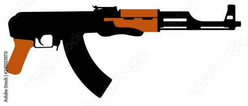 Assault rifle Kalashnikov, AK-47 machine gun Canvas Print