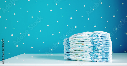 Fotografiet  A pack of diapers in baby room