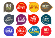 Sale Quality Badges. Round Hun...