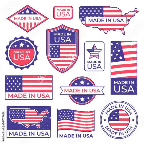 Photographie  Made in usa logo