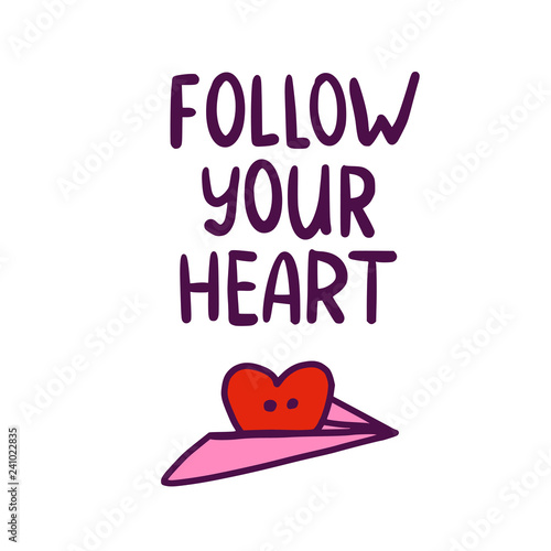 Doodle Heart and Follow your heart Canvas Print