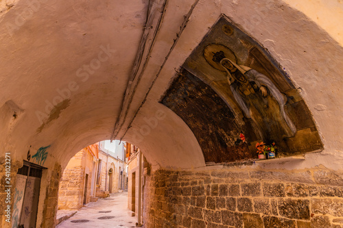 Centro storico Andria - Old Town Andria Puglia Canvas Print