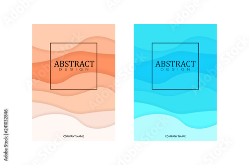 Fotografie, Obraz  A4 Art Wavy Book Cover Design Template