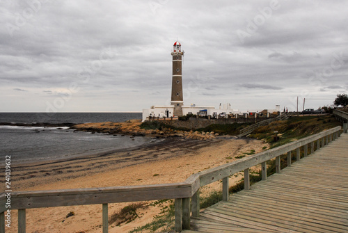 Foto op Aluminium Zuid-Amerika land Jose Ignacio lighthouse path
