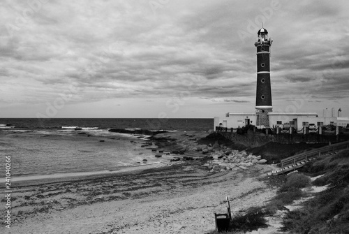 Foto op Aluminium Zuid-Amerika land Jose Ignacio beach and lighthouse