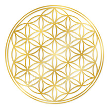 Golden Flower Of Life, Used Fo...
