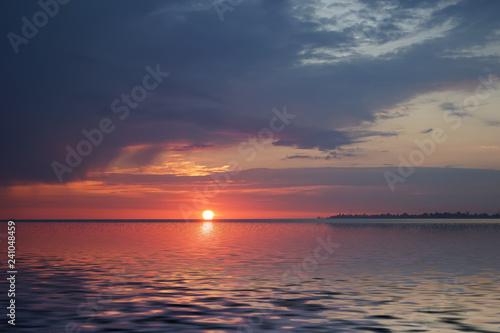 Fotografie, Obraz  Amazing sunset on the ocean