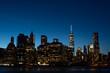 new york city, manhattan skyline at night