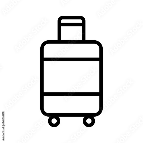 Fotografie, Obraz  Carry-on luggage or cabin luggage line art vector icon for travel apps and websi