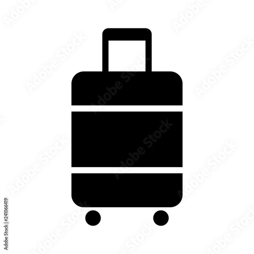 Photo Carry-on luggage or cabin luggage flat vector icon for travel apps and websites