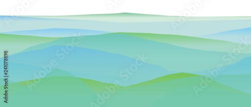 Farbige Berge, Wellen, abstrakte Oberfläche, moderner Hintergrund, Vektorgrafik Illustration für dein Projekt