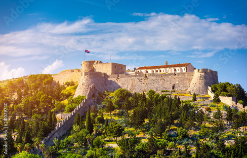 The Fortica fortress (Spanish Fort or Spanjola Fortres) on the Hvar island in Croatia Wallpaper Mural