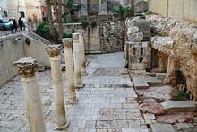 Old City Of Jerusalem, Byzantine Ruins Of The Cardo