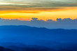 landscape sunset Background of mountain in Chiang Rai,Thailand