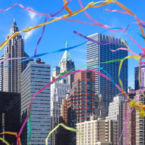 Keuken foto achterwand Amerikaanse Plekken New york city skyline