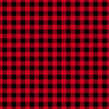 Vector Seamless Pattern. Cell Background Red Color Fashion Cloth Cage. Abstract Checkered Backdrop On Dark.