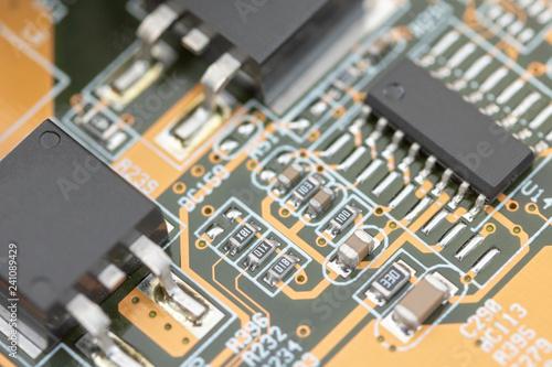 Keuken foto achterwand Macrofotografie 電気基板の接写