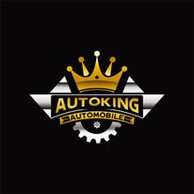 King Automobile Logo Sign Symbol Icon