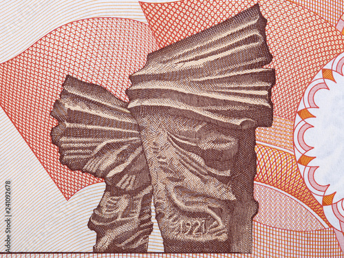 Fotografía Image of the Silesian Insurgents' Monument from Polish money