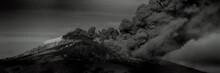 Etna Eruption With Cloud Of Ash