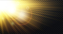 Yellow Warm Light Effect, Sun ...