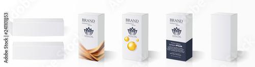 Box, packaging template for product vector design illustration. Fototapete