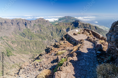 Fotografia  Caldera taburiete National park. La palma. Canary Islands