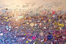 Wall Full Of Lovers Wishes At ...