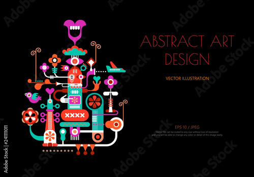 Abstract art design vector illustration