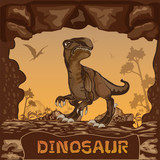 Fototapeta Dinusie - Dinosaur illustration Vector Concept