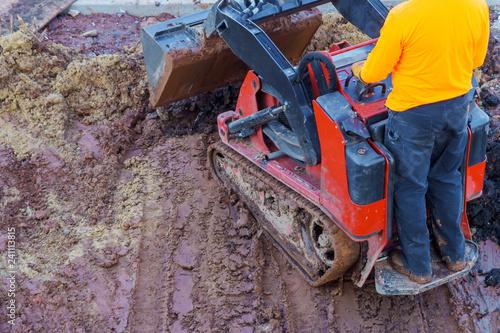 Fotografía  Excavation works at the construction site