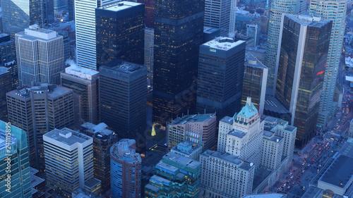 Deurstickers Toronto Aerial of Toronto, Canada city center at twilight