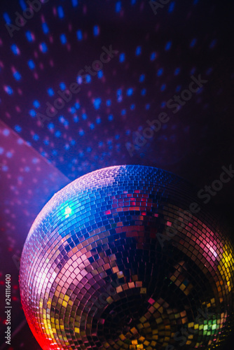 disco ball on abstract background - 241116400