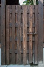 Old Japanese Wooden Gate
